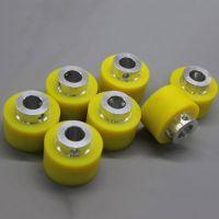 定做聚氨酯胶辊包胶耐磨压花辊印刷机硅胶辊 贴膜机铁芯胶轮加工