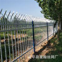 厂家直销合作社田块锌钢围网 养殖场围墙铁艺栏杆 喷塑组装护栏网