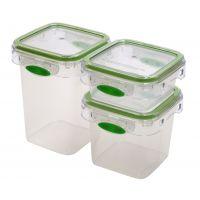 【香港品牌】多功能食品储物罐三件套 保鲜罐 收纳盒 食物生鲜果蔬冰箱冷藏微波炉加热