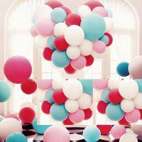 用品店庆紫色门店装饰气球 布置活动美容院会场happy春节元旦舞台