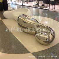 美妍装饰创意休息椅商场公共空间艺术椅子个性异形玻璃钢休闲座椅
