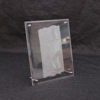 亚克力菜谱桌牌有机玻璃支架A5A4证书营业执照奖状照片台签台牌
