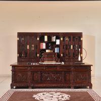 印尼黑酸枝好在哪里?正宗阔叶黄檀古典中式红木书房