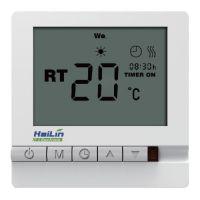 海林地暖温控器 采暖控制器 水暖电暖开关 碳晶面板HA208 HA308