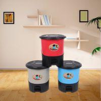 塑料脚踏垃圾桶带盖厨房垃圾桶卫生间带盖垃圾桶 家用结实耐用垃