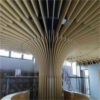福建喷漆弧型铝方通 售楼部艺术异型铝方通供应商