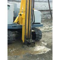 旋喷钻机水电站地基止水帷幕工程的施工视频