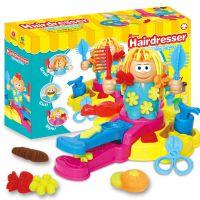 抖音同款 3D彩泥疯狂理发师店主题橡皮泥模具工具套装DIY玩具 厂