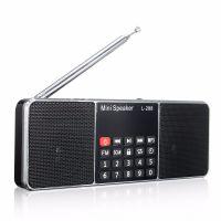 英文版L-288插卡收音机低音炮迷你小音箱MP3播放器双喇叭立体声
