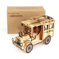 厂家直销老爷车模型玩具实木制旅游工艺品摆件创意仿真车模型批发
