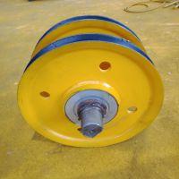 定制各种规格尺寸轧制滑轮 起重专用吊钩滑轮组