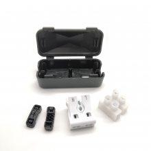 龙然厂家快捷式两位防尘接线盒 塑料电缆线盒 925/P02两位端子盒
