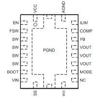 TPS61088-HT7178具有12A开关的20V输出同步升压转换IC