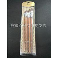 比尔画材排笔 6只装套装 水粉笔 油画笔 水彩笔