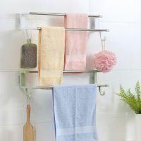 浴室壁挂吸盘毛巾架毛巾杆免打孔伸缩卫生间晾衣杆毛巾挂钩置物架