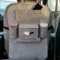 座椅后背毛毡汽车储物袋收纳包奶茶瓶子收纳袋新款毛毡储物
