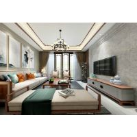 北碚天古装饰鲁能北渝星城125平米户型新中式风格设计效果图