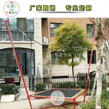 山东淄博小区经营小型蹦蹦床,钢架蹦极儿童看到眼睛都直了