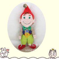 25CM表演道具小丑毛绒玩具 穿衣小丑人物造型带铃铛