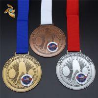 奖牌定做马拉松运动会奖章制作幼儿园比赛挂牌金银铜牌金属奖牌