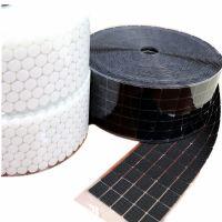 厂家直销冲型强力背胶魔术贴黑白圆型现货粘扣带环保强粘加工定做