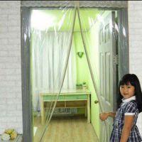 磁性自吸软门帘透明塑料磁铁隔热隔断挡风空调保温门帘子