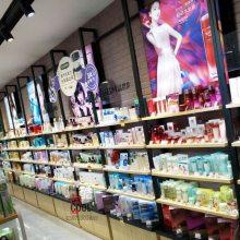 高端化妆品展示柜新款钢木展柜专卖店时尚展示架商超货架