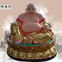 天王殿未来佛贴金神像弥勒佛、弥勒菩萨佛像