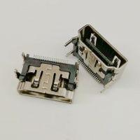 HDMI 19PIN母座 A-TYPE 90度四脚插板DIP+SMT贴片 HDMI高清接口-创粤