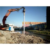 上海嘉定区日立470型打桩机打拔拉森钢板桩基坑围护施工·水泥方桩PH管桩拔除全套管回转钻机清障