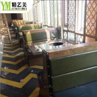 广东餐饮家具厂家 石锅鱼下崁式火锅餐桌座椅现代中式火锅餐厅家具