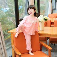 JSH女宝宝纯棉女孩睡衣夏季套装长袖空调服小童女宝薄款1岁3夏女