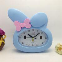 奔时BS-3011SS彩色卡通可爱兔子坐挂闹钟可爱卡通钟皮肤