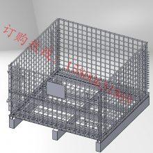 供应货架仓储笼上货架金属托盘金属折叠镀锌川字型带围栏托盘