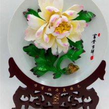 洛阳牡丹瓷 唐三彩 旅游纪念品 河南礼物 陶瓷 工艺品 家居 摆件