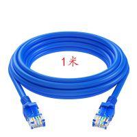 质量好!电脑耗材配件批发 网线1米/原装成品线 蓝色/密封套装