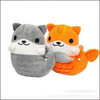 新品美人鱼公仔玩具扮猫咪后院可爱猫咪猫玩具8寸娃娃机动漫玩偶