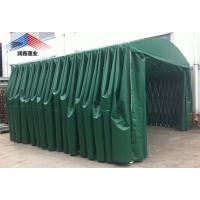 西安厂家定制移动伸缩车篷固定仓库移动伸缩拍档烧烤棚