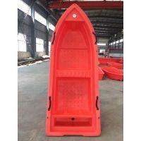 2.5米小型双层渔船江西牛筋料红色冲锋舟