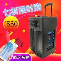 乐浪广场舞音箱 重低音音箱 大功率音箱 蓝牙音箱 手提户外拉杆音箱