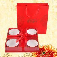 婚庆用品陶瓷餐具碗筷套装龙凤呈祥结婚礼品吉祥喜庆红碗套装批发