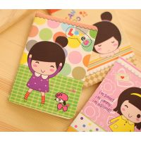 韩国文具可爱女孩卡通小号缝线记事本 韩国文具批发学生礼物赠品