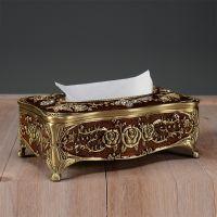 礼品奢华金属美欧式雕花纸巾盒复古抽纸盒餐巾纸盒家居餐厅装饰品