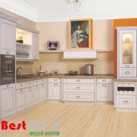 厂家生产 个性化实木模压厨柜 欧式白色造型橱柜