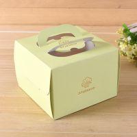 烫金手提生日蛋糕盒批发 慕斯烘焙包装盒 印花食品盒 印刷LOGO