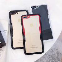 简约个性仿玻璃透明软胶iphoneX手机壳7plus/8情侣防摔苹果6s创意