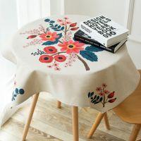 一件代发田园布艺棉麻桌布餐厅创意圆桌台布茶几防尘布盖巾电视床