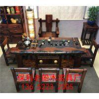 老船木茶桌椅组合家用小户型阳台实木茶桌茶台客厅小茶几简约整装茶道桌