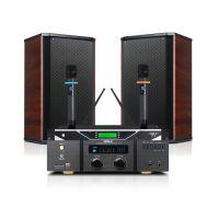 专业会议音响套装狮乐KTV功放机AV-2011B壁挂音箱8寸BX-108话筒厂