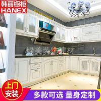 厂家直销整体厨房组合橱柜 新中式风格定做 实木颗粒板橱柜